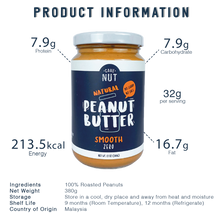 Load image into Gallery viewer, Smooth Zero Peanut Butter 380g