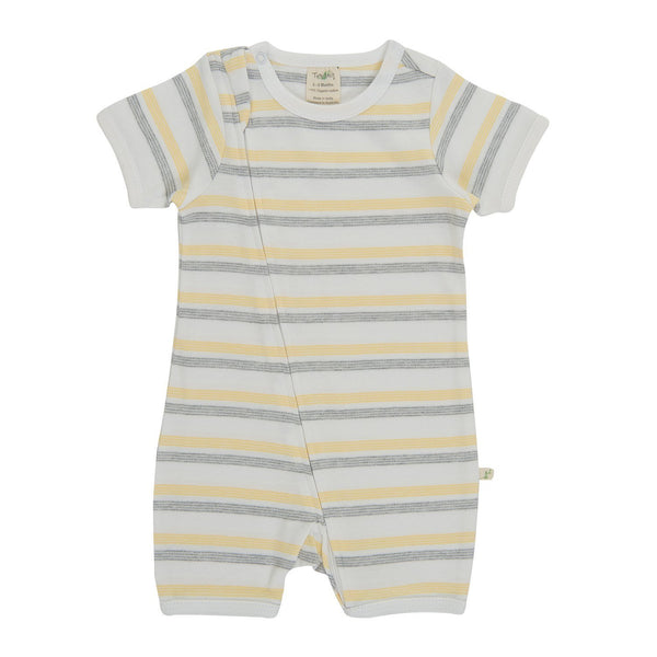 Banana Stripes Organic Zipsuit