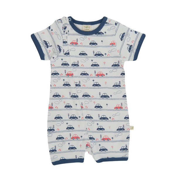 Drive Time Organic Sleepsuit with Zip