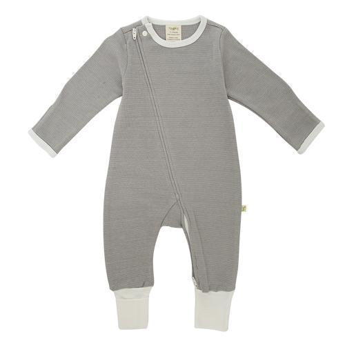 Granite Stripes Organic Zip Growsuit