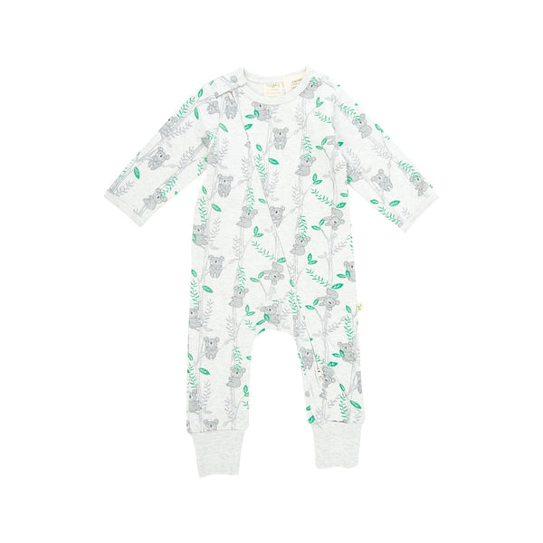 Cute Koalas Organic  Long Sleeve Zipsuit