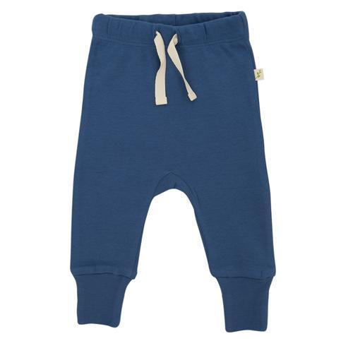 Bijou Blue Organic Pyjamas with Foldback