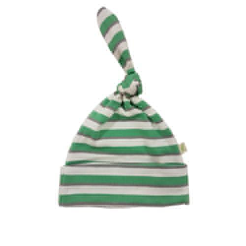 Emerald Stripes Organic Knotted Beanie