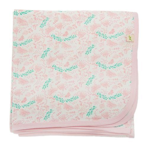 Butterfly Garden Organic Cotton Blanket