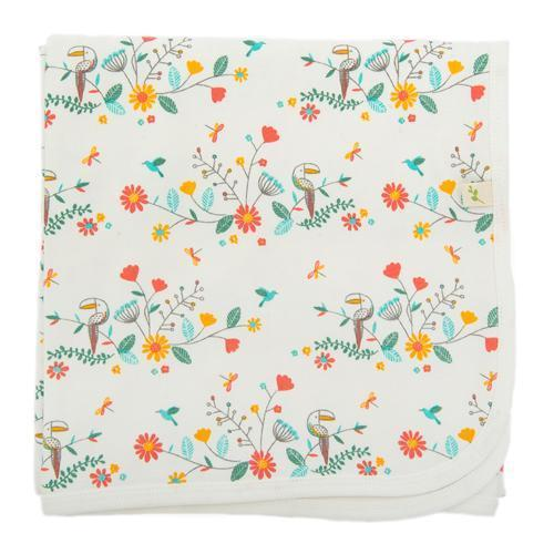 Rainbow Florals Organic Cotton Blanket