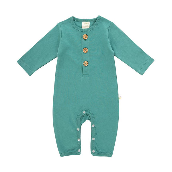 Winter Green Organic Button Up Growsuit