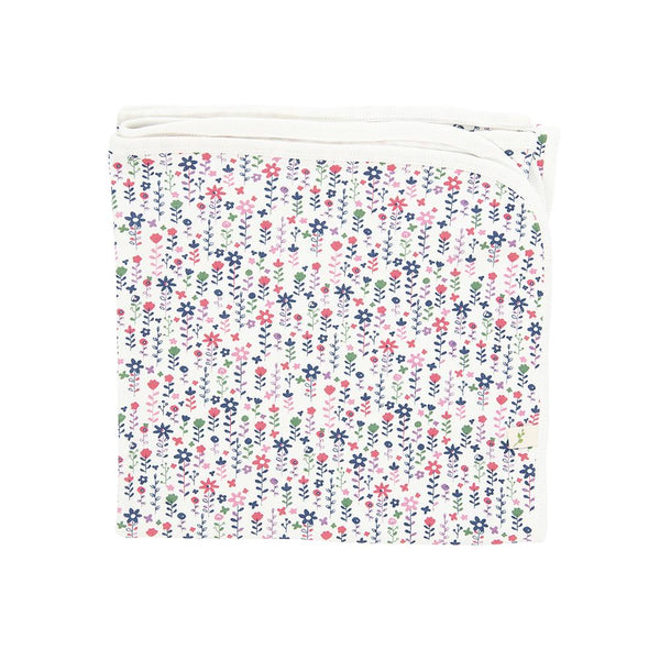 Pretty Florals Organic Cotton Blanket