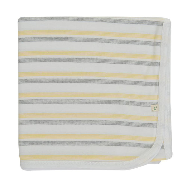 Banana Stripes Organic Cotton Blanket