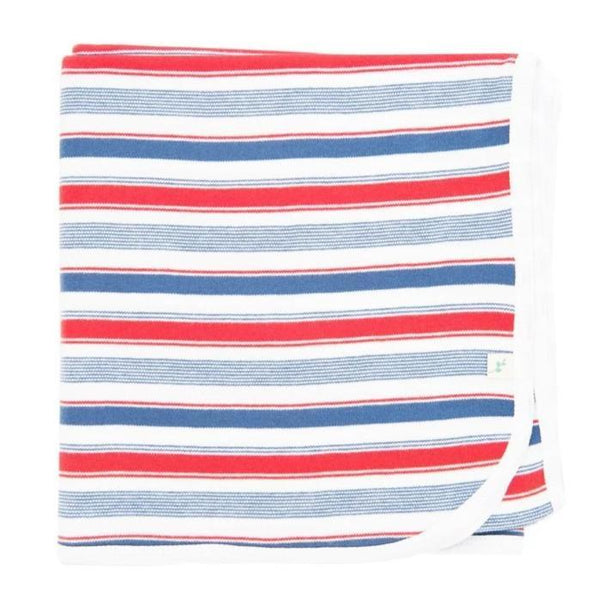 Mariner Stripes Organic Cotton Blanket