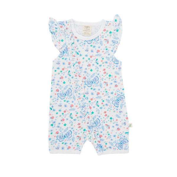 Butterfly Frill Organic Sleepsuit with Zip