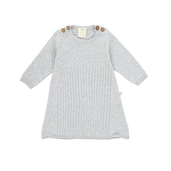 Grey Marle Organic Knitted Jacquard Dress