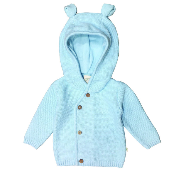 Cool Blue Organic Knitted Hoodie