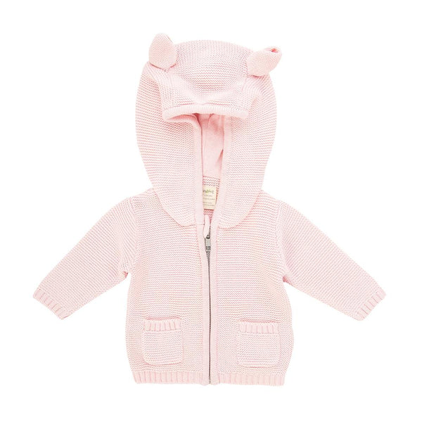 Soft Pink Organic Knitted Hoodie