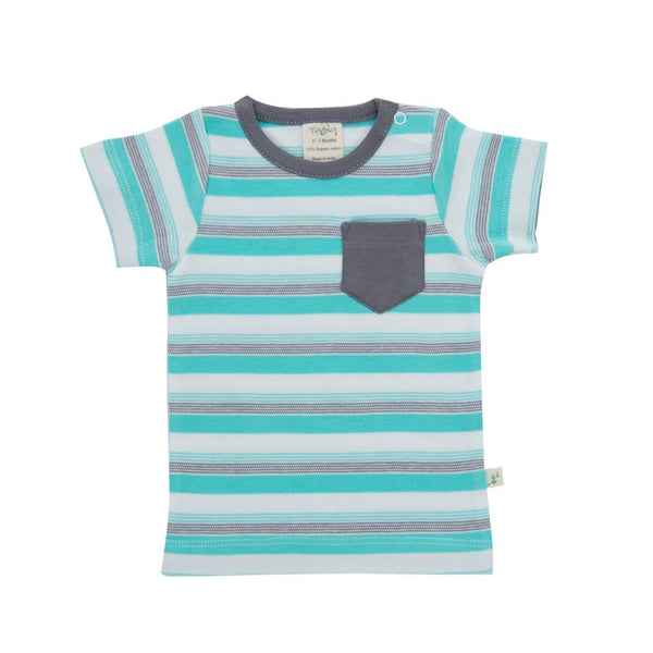 Space Stripes Organic Round Neck T-Shirt / Tee