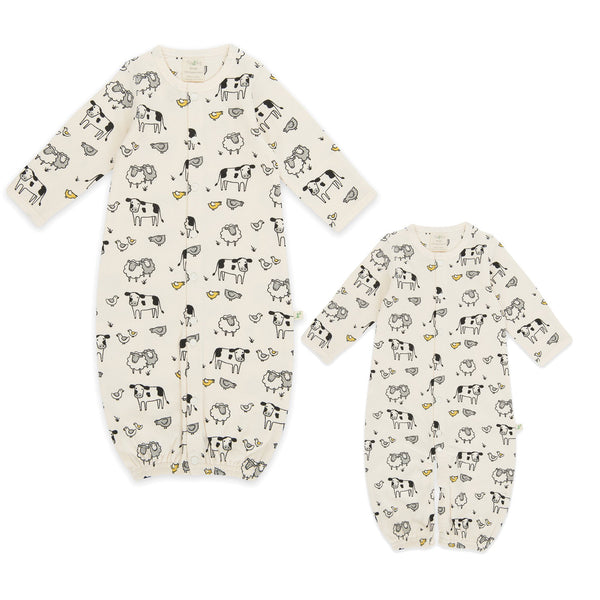 Farmer's Market Organic Sleepsuit with Zip