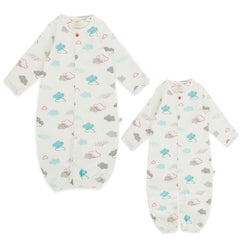 Home School Organic Convertible Sleepsuit