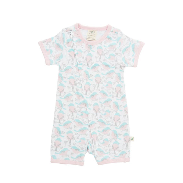 Love Birds Organic Sleepsuit with Zip
