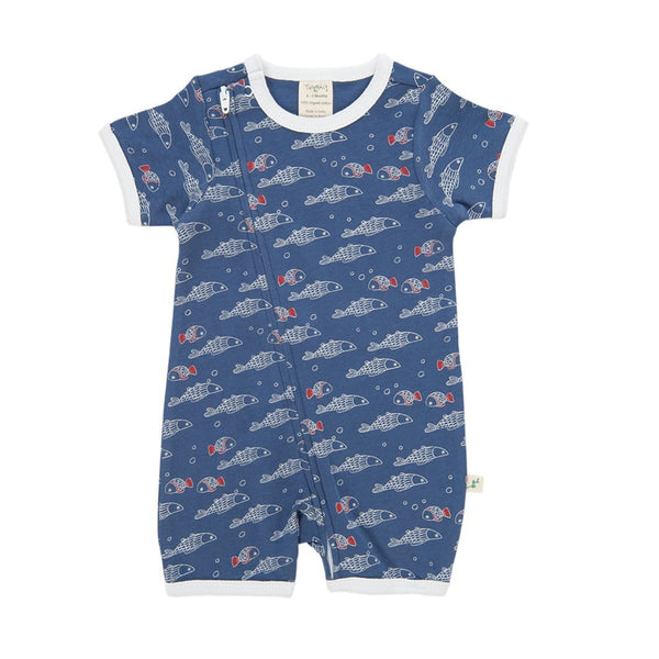 Little Fish Organic Sleepsuit with Zip