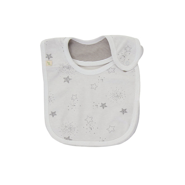 Unisex Reversible Bib - Little Stars | Organic Cotton | Tiny Twig