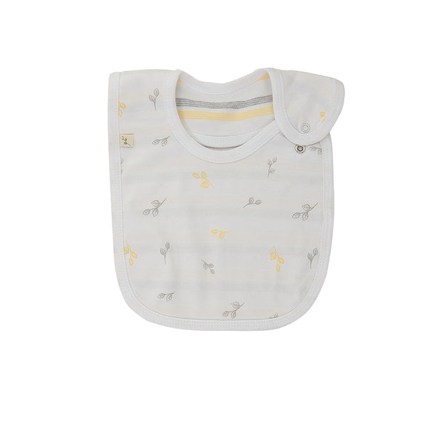 Reversible Bib - Tiny Leaf | Baby Unisex | Organic Cotton | Tiny Twig
