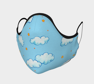 Cloud and Stars Face Mask