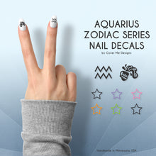 Load image into Gallery viewer, aquarius zodiac nail decals