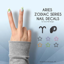 Load image into Gallery viewer, aries zodiac nail decals