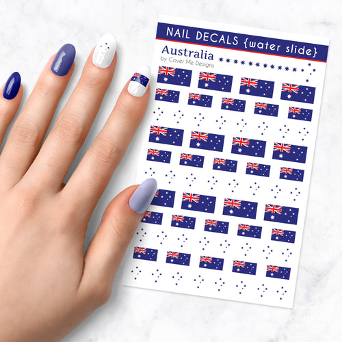 australian flag nail art decal sheet