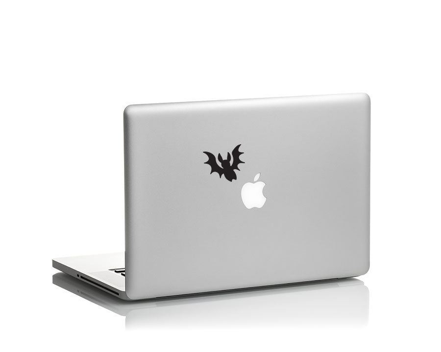 halloween bat vinyl decal on laptop