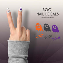 Load image into Gallery viewer, boo cute ghost and text nail decals