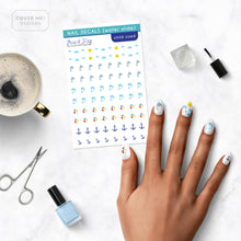 Load image into Gallery viewer, beach summer kid nail decals on table