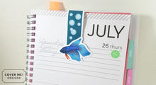 Load image into Gallery viewer, betta fish magnetic bookmark on planner