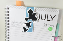 Load image into Gallery viewer, flying crows ravens magnetic bookmark on planner