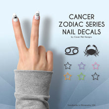 Load image into Gallery viewer, cancer zodiac crab nail decals