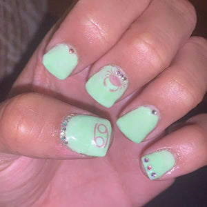 Cancer Zodiac Water Slide Nail Decals