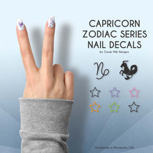 Load image into Gallery viewer, capricorn zodiac nail decals