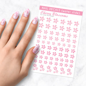 cherry blossoms sakura flower nail art decal sheet