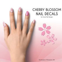 Load image into Gallery viewer, cherry blossom pink sakura nail decals