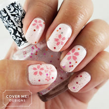 Load image into Gallery viewer, pink cherry blossom sakura flower nail art