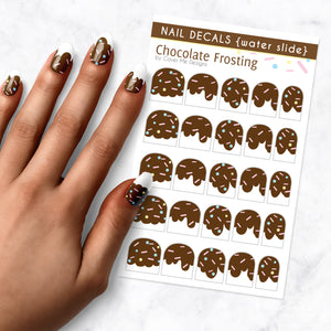 chocolate frosting nail art decal sheet