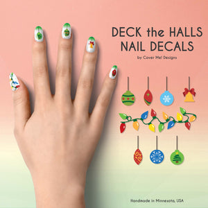 deck the halls christmas ornament nail decals