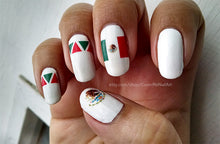 Load image into Gallery viewer, cinco de mayo flag nail art