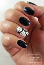 Load image into Gallery viewer, Cute Ghosts - Long Water Slide Nail Decals