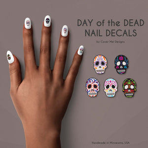 day of the dead nail decals