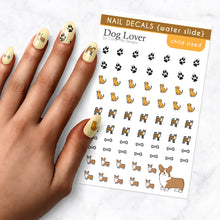 Load image into Gallery viewer, dog lover puppy kids nail art decal sheet