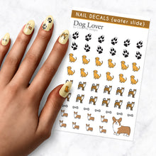 Load image into Gallery viewer, dog lover puppy nail art decal sheet
