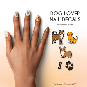 dog puppy lover nail decals