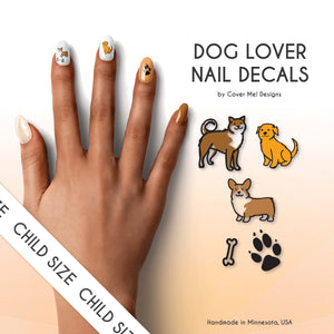 dog puppy lover kid nail decals