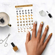 Load image into Gallery viewer, dog puppy lover nail decals on table