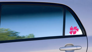 hibiscus hawaiian flower  vinyl decal on car window